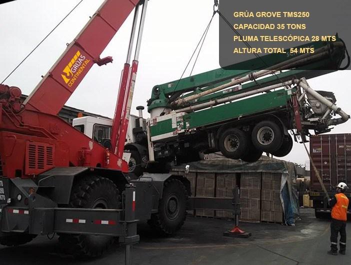 elevación cementera terex 35 tons